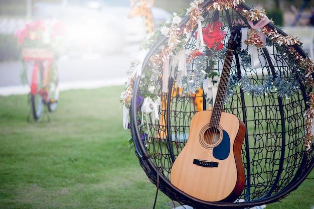 Gitarreninstrument von professionellen gitarristen musikinstrumentkonzept für unterhaltung Premium Fotos