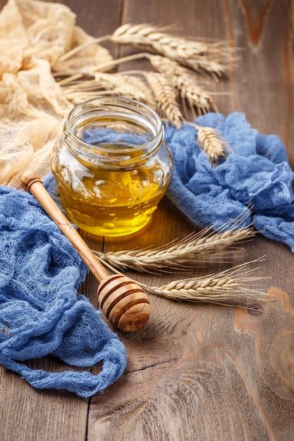 Glas honig und ährchen Premium Fotos