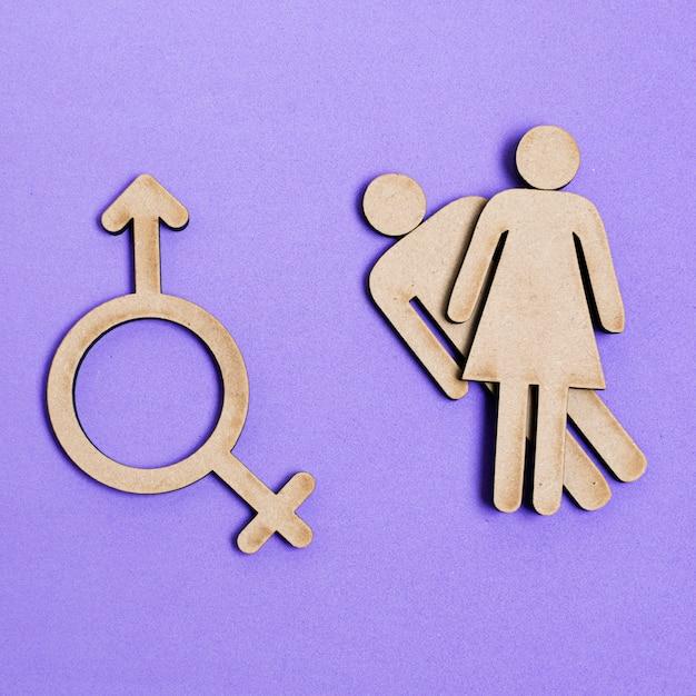 Gleichberechtigung von mann und frau und geschlechtssymbol Kostenlose Fotos