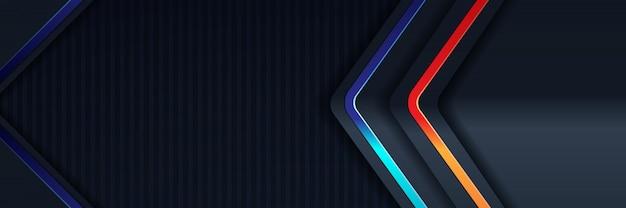 Glitzer hintergrundbeleuchtung mit abstrakten farbe banner gold Premium Fotos