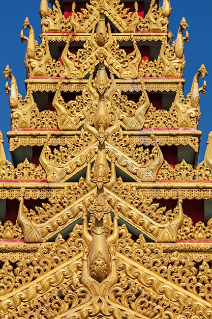 Globale vipassana-pagodendetails Premium Fotos