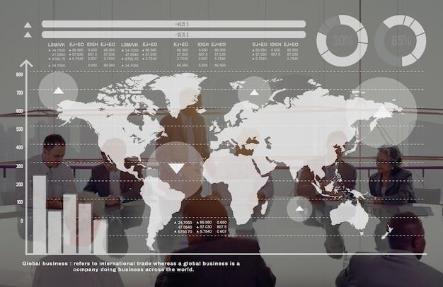 Globales geschäfts-diagramm-wachstums-finanzmarkt-konzept Kostenlose Fotos