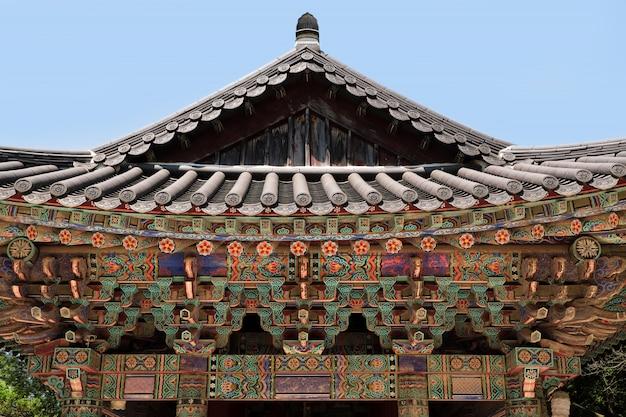 Glockenglocken-pagodendach buddhistischen tempels der korea-bulguksa unesco Premium Fotos