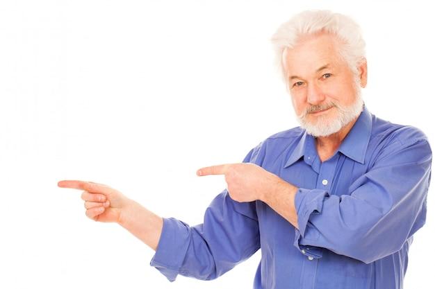 Glücklicher älterer mann mit bart Kostenlose Fotos