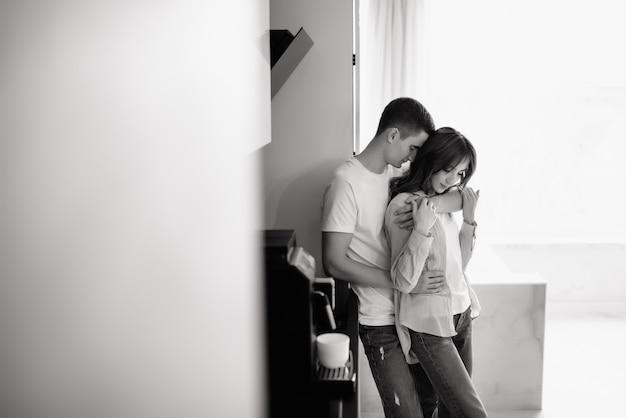 Tolles Junges Amateurhaftes Paar