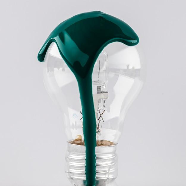 Glühbirne mit grüner farbe Kostenlose Fotos
