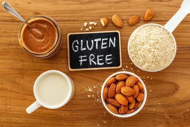 Glutenfreies essen aus mandeln Premium Fotos