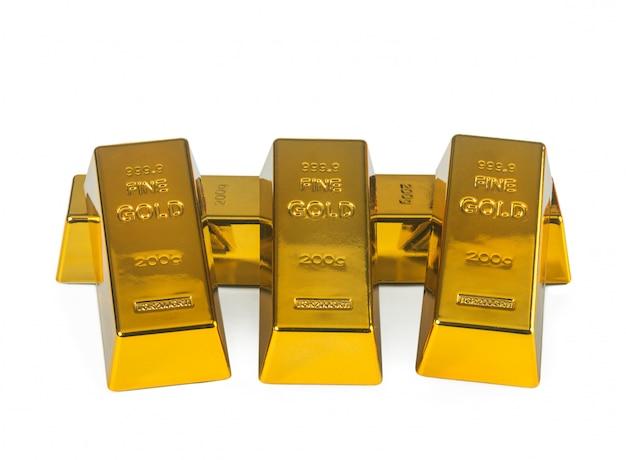 Goldbarren Premium Fotos