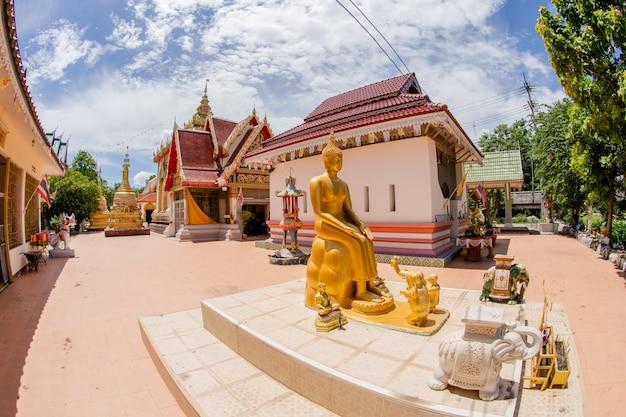Goldbuddha bild im freien im tempel Premium Fotos