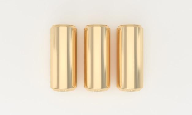 Goldene kalte getränke in metalldosen Premium Fotos