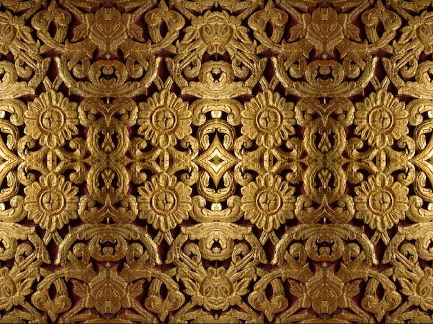 Goldene symmetrische dekoration Premium Fotos
