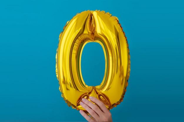 Goldfolie nr. 0 null feierballon Premium Fotos