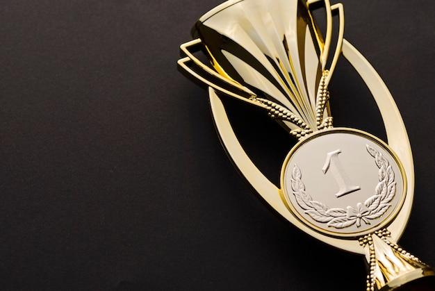 Goldmedaillon-auszeichnung für den ersten platz oder den sieg Premium Fotos