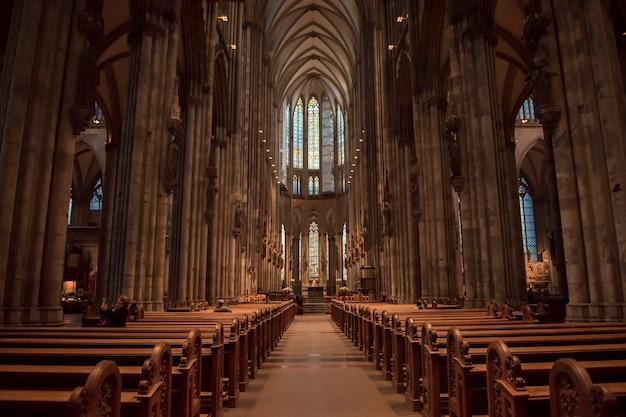 Gottesdienst im kölner dom. Premium Fotos