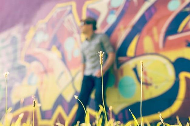 Graffiti auf hintergrund Kostenlose Fotos
