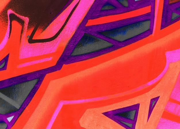 Graffitidetailtapetenbeschaffenheit oder -hintergrund Premium Fotos