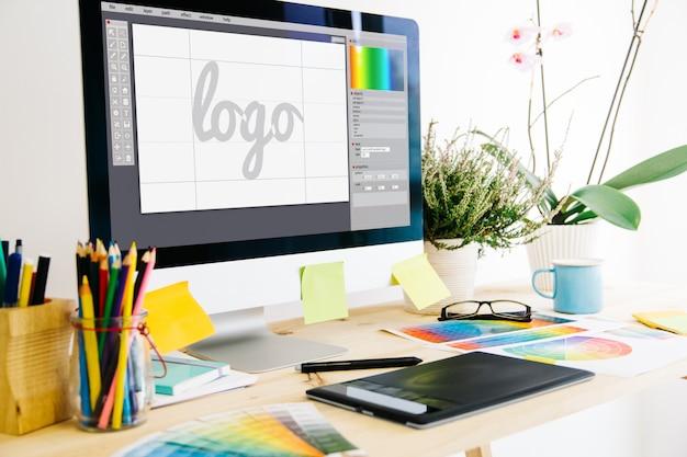 Grafikdesignstudio Premium Fotos