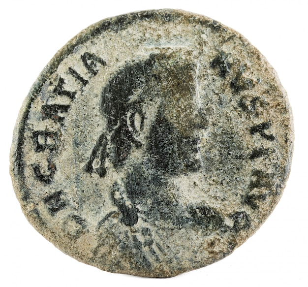 Gratian roman coin Premium Fotos