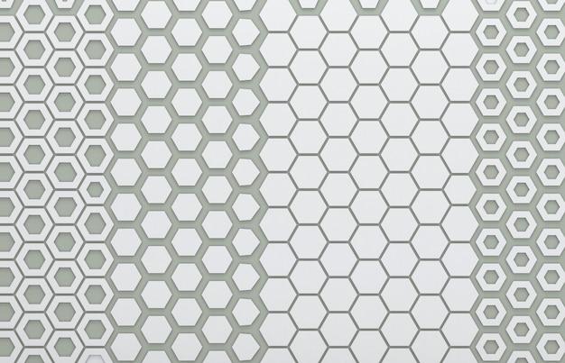 Graue hexagongraphik für hintergrund Premium Fotos