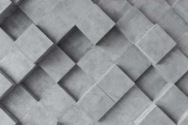 Graue oberfläche 3d mit quadraten Premium Fotos