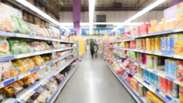 Große ansicht verwischte bewegung des supermarktkaufhauses in china Premium Fotos