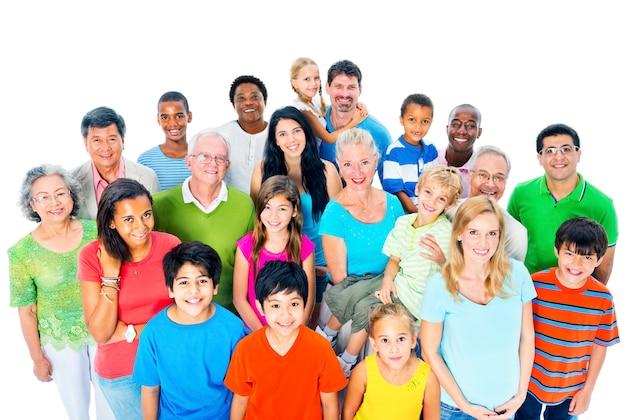 Große gruppe von menschen Premium Fotos