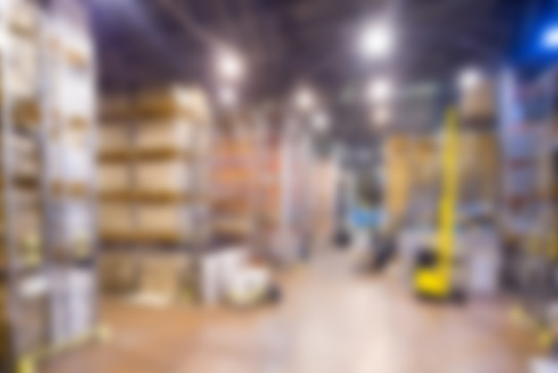 Großes modernes warehouse thema unschärfe hintergrund Kostenlose Fotos