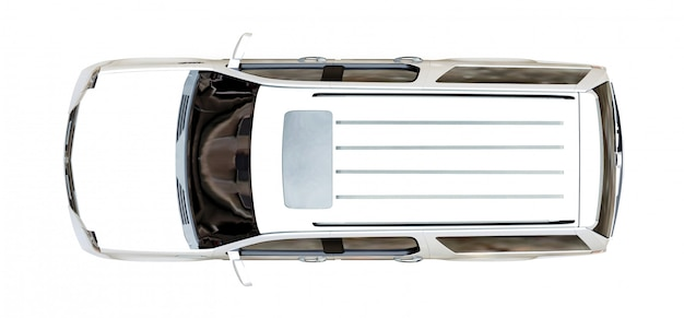 Großes weißes premium-suv-auto Premium Fotos