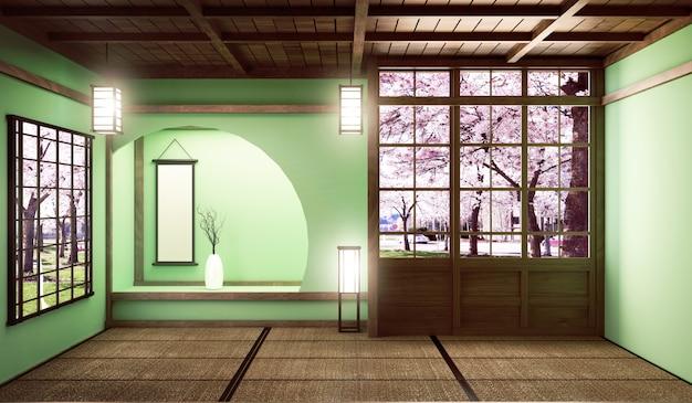 Großes zimmer im sehr luxuriösen zen-stil Premium Fotos