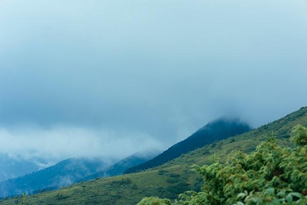 Grüne berglandschaft gegen bewölkten himmel Kostenlose Fotos