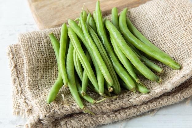 Grüne bohnen Premium Fotos