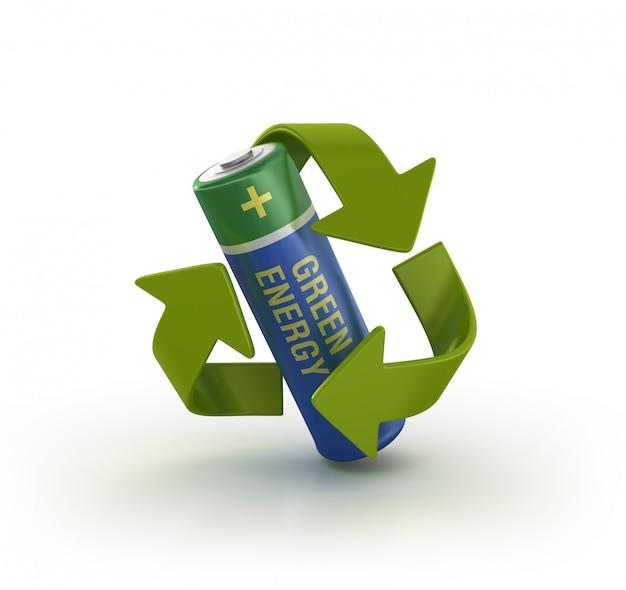 Grüne energiebatterie Premium Fotos