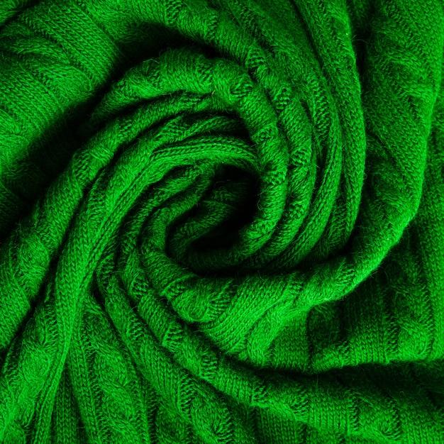 Grüne textur aus feinem wollstoff Premium Fotos