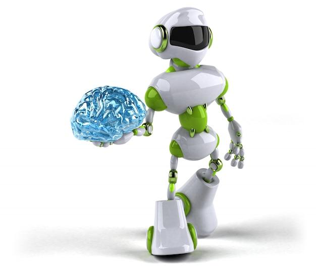 Grüner roboter - 3d-illustration Premium Fotos