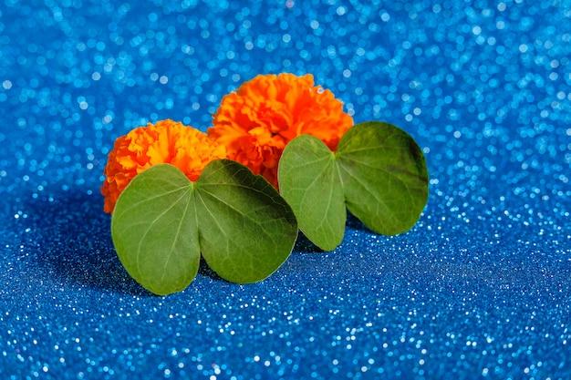 Grünes blatt und blume Premium Fotos