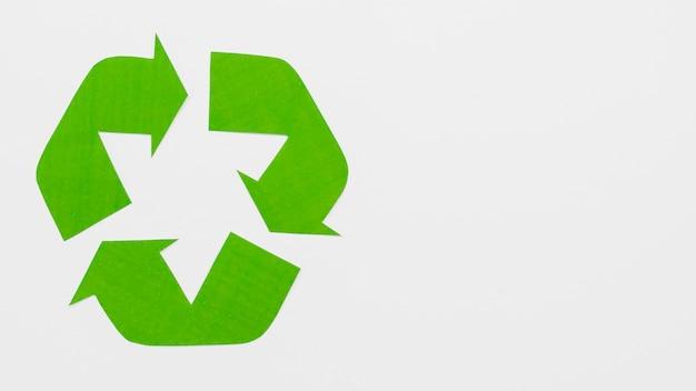 Grünes öko-recycling-logo Kostenlose Fotos