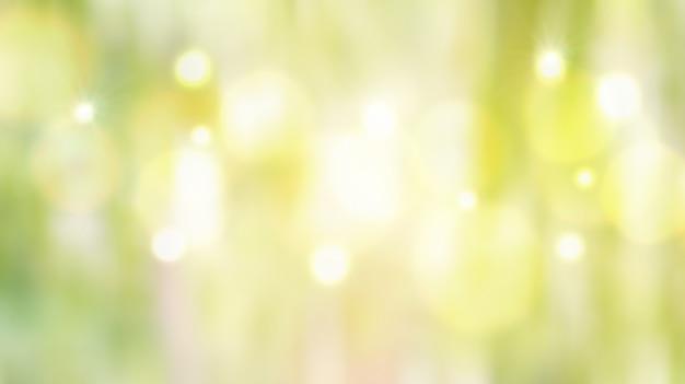 Grünes pastell-bokeh defocused lichter für einen hintergrund. Premium Fotos