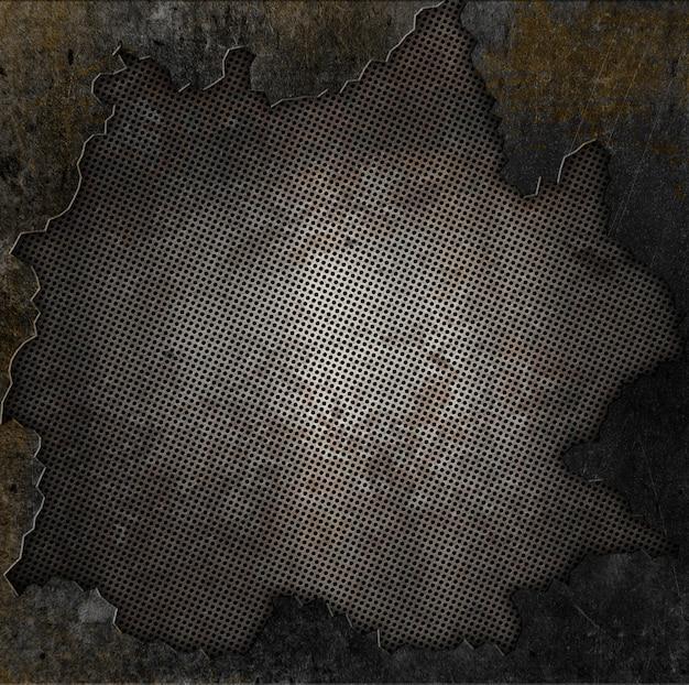 Grunge-stil rostigen metall und stein hintergrund Kostenlose Fotos