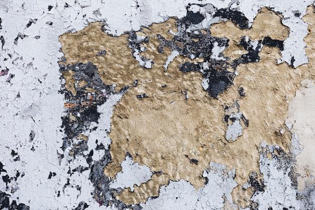 Grungy weiße farbe und brauner betonmauerhintergrund Kostenlose Fotos