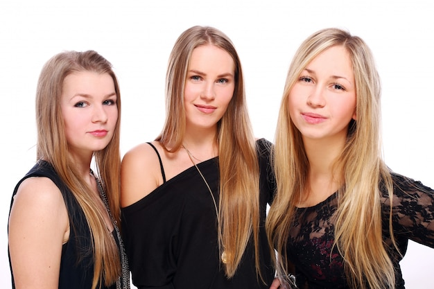 Gruppe junger freundinnen Kostenlose Fotos