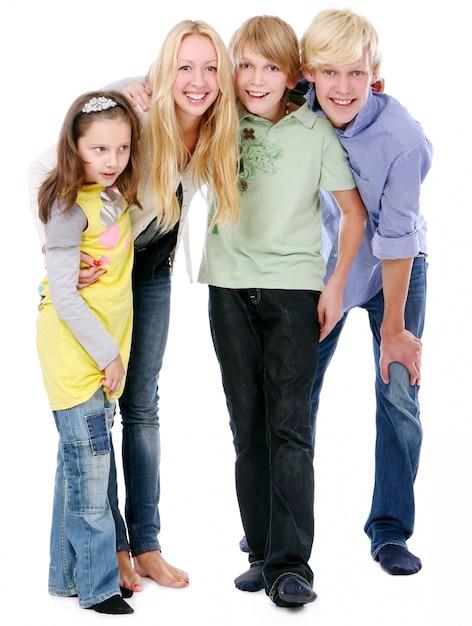 Gruppe von jungen und schönen jungen Kostenlose Fotos