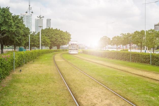 Guangzhou stadt ampel u-bahn Premium Fotos