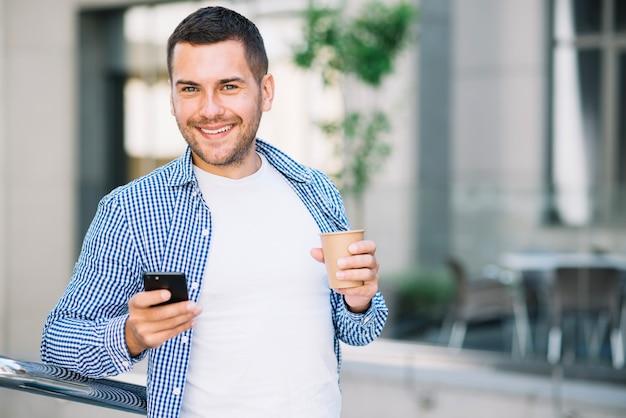 Mann Mit Kaffee