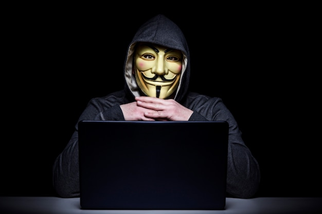 Hacker-porträtbild Premium Fotos