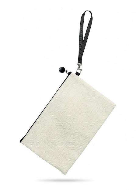 Hängende gewebetasche lokalisiert auf weißem hintergrund. Premium Fotos