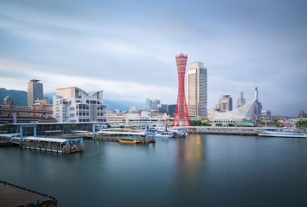 Hafen von kobe tower Premium Fotos