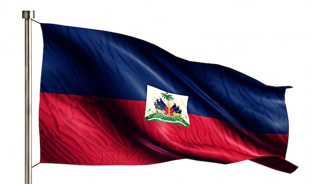 Haiti nationalflagge isoliert 3d weißen hintergrund Kostenlose Fotos