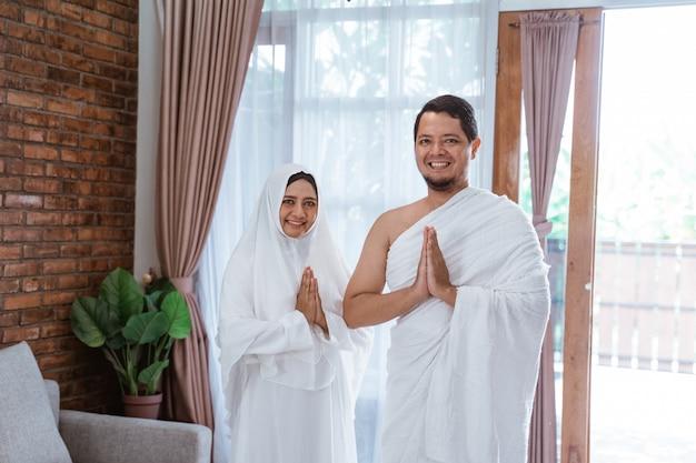 Hajj und umrah muslimisches paar Premium Fotos