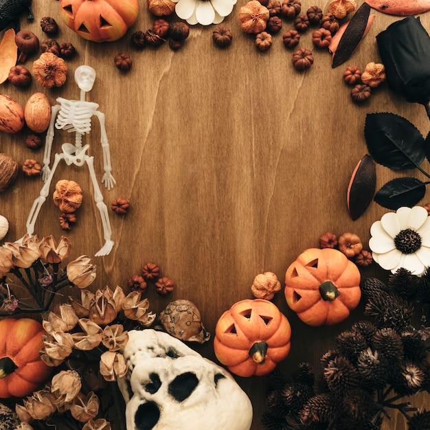 Halloween-Konzept Mit Kreisförmigen Raum