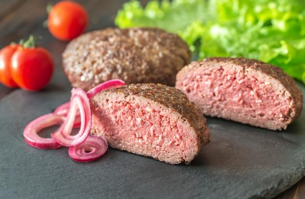 Hamburger steak Premium Fotos